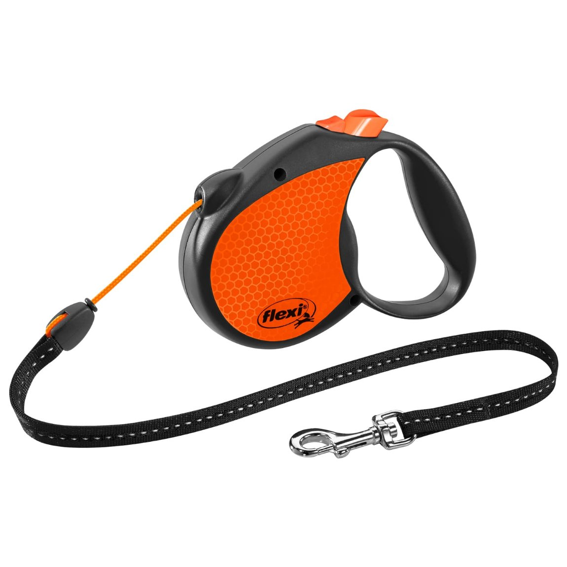 Flexi Neon Dog Lead 5m - Orange