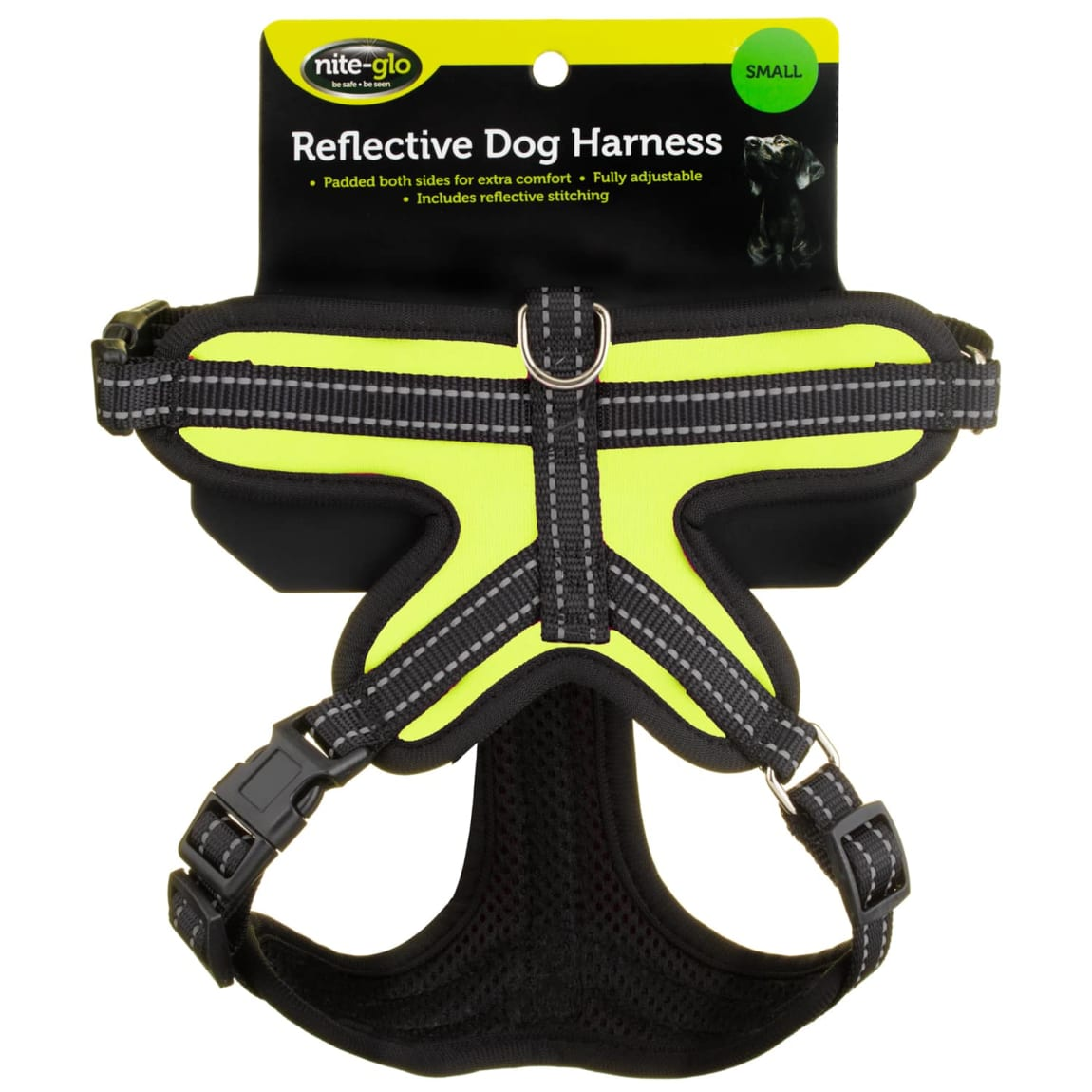 Nite Glo Reflective Dog Harness - Yellow