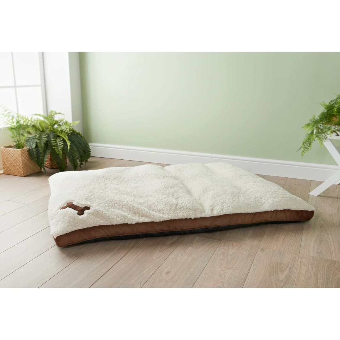 Extra Large Memory Foam Dog Bed - Brown