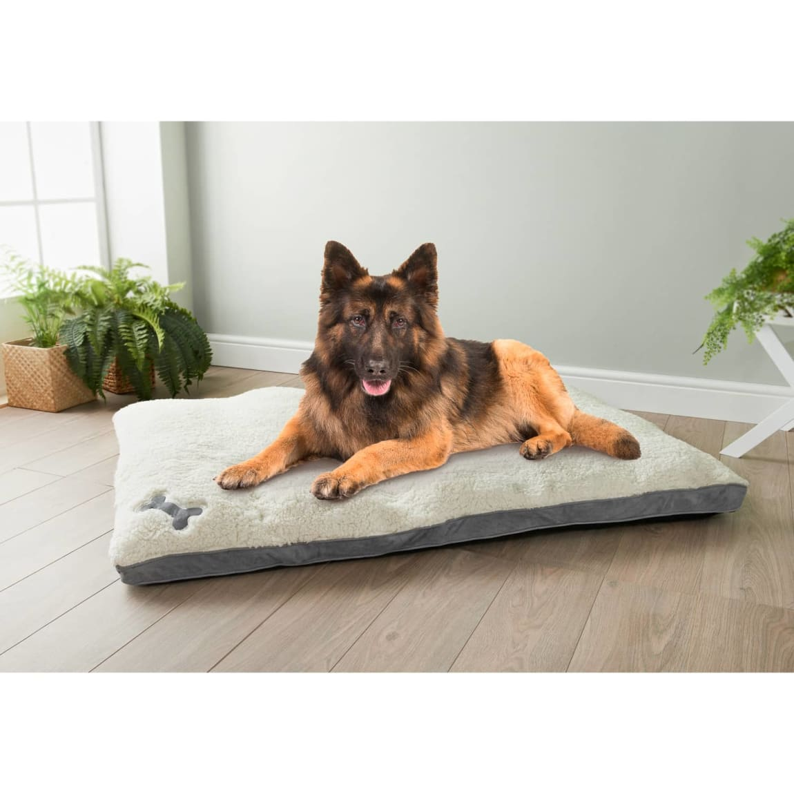 Extra Large Memory Foam Dog Bed - Grey