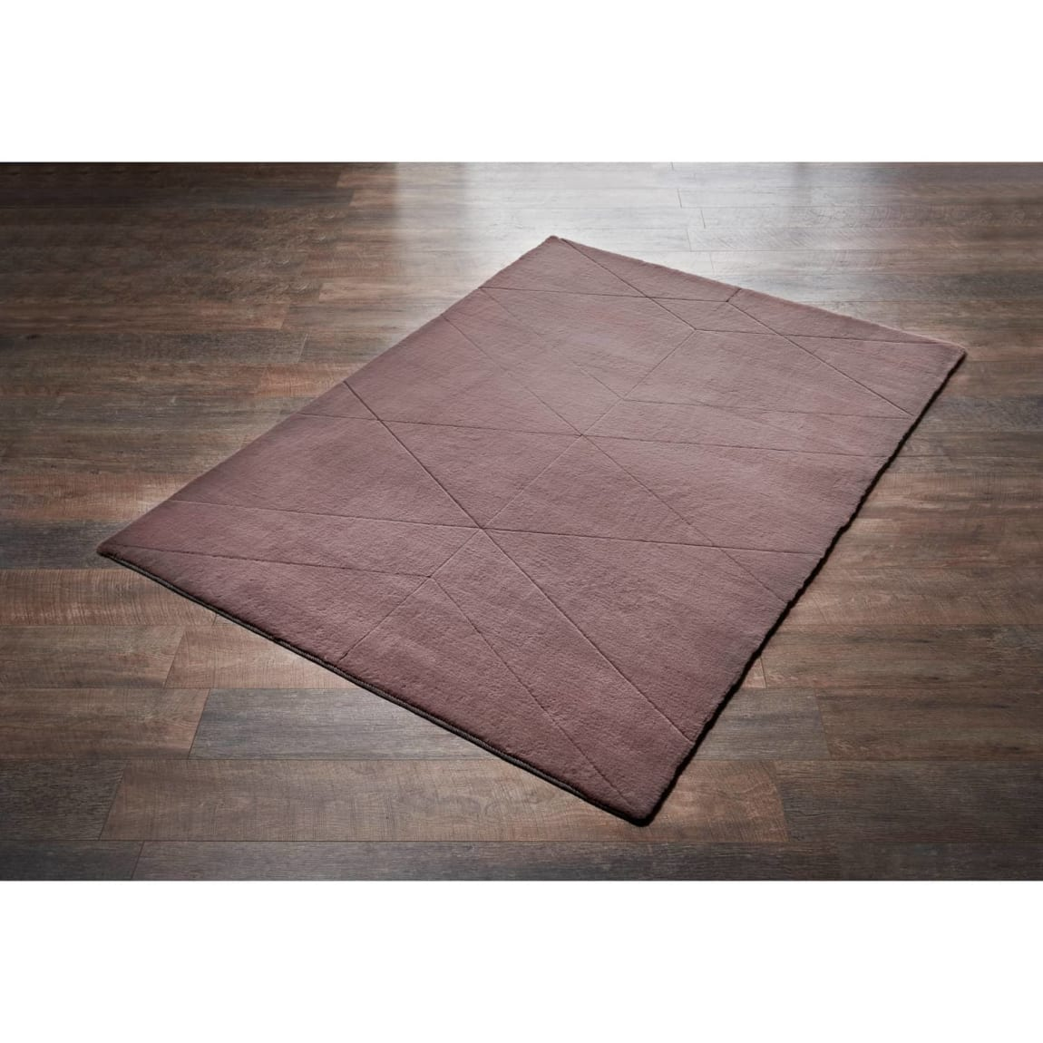 Blush Sculp Fur Rug - 110 x 160cm