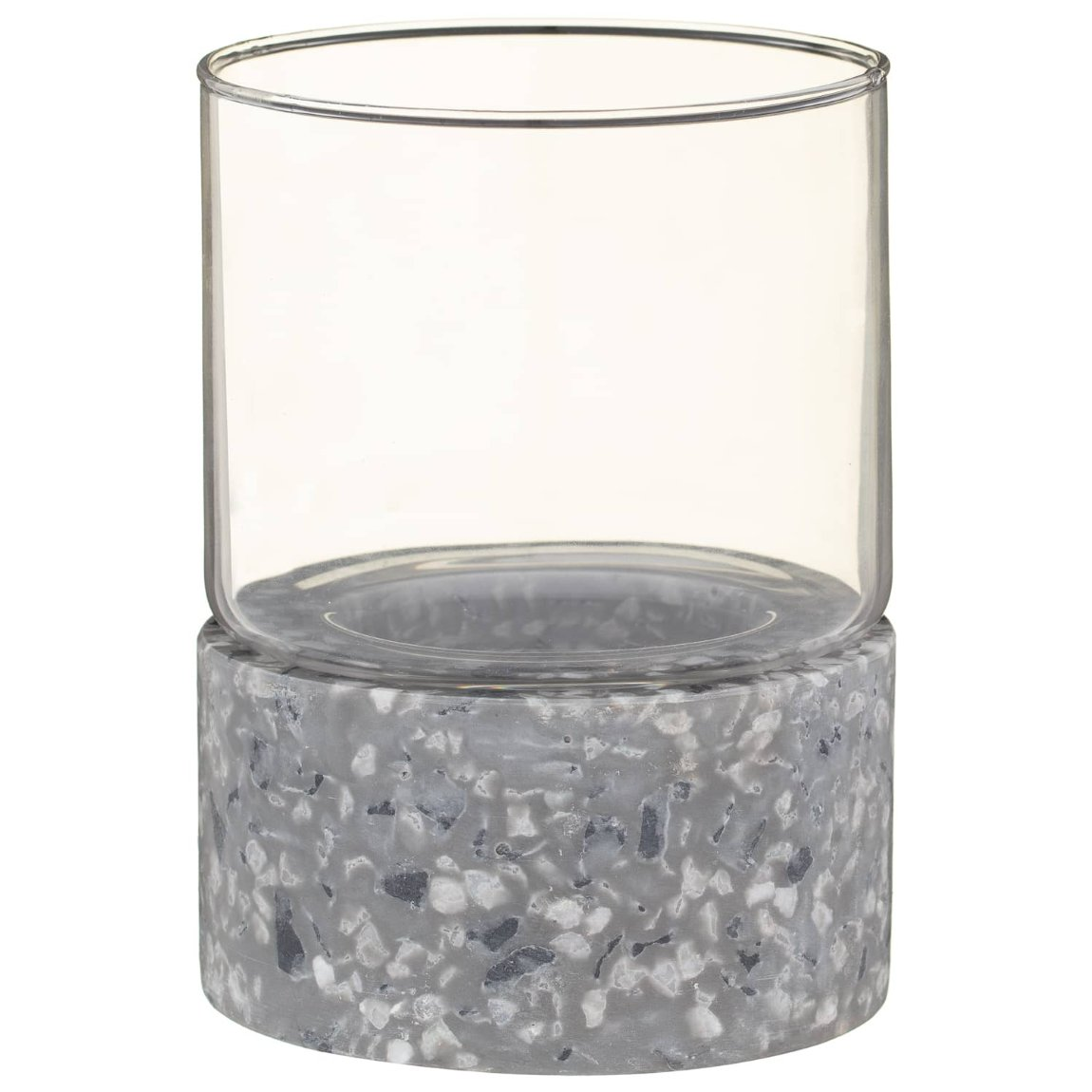 Hurricane Terrazzo Candle Holder - Grey