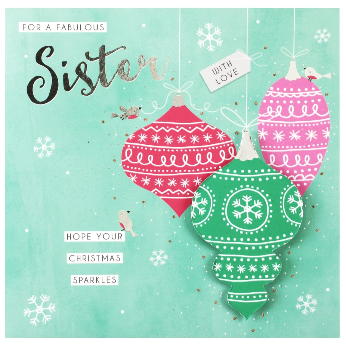For a Fabulous Sister - Christmas Card