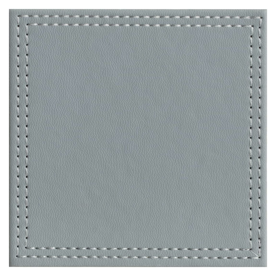 Leatherette Coasters 6pk - Grey