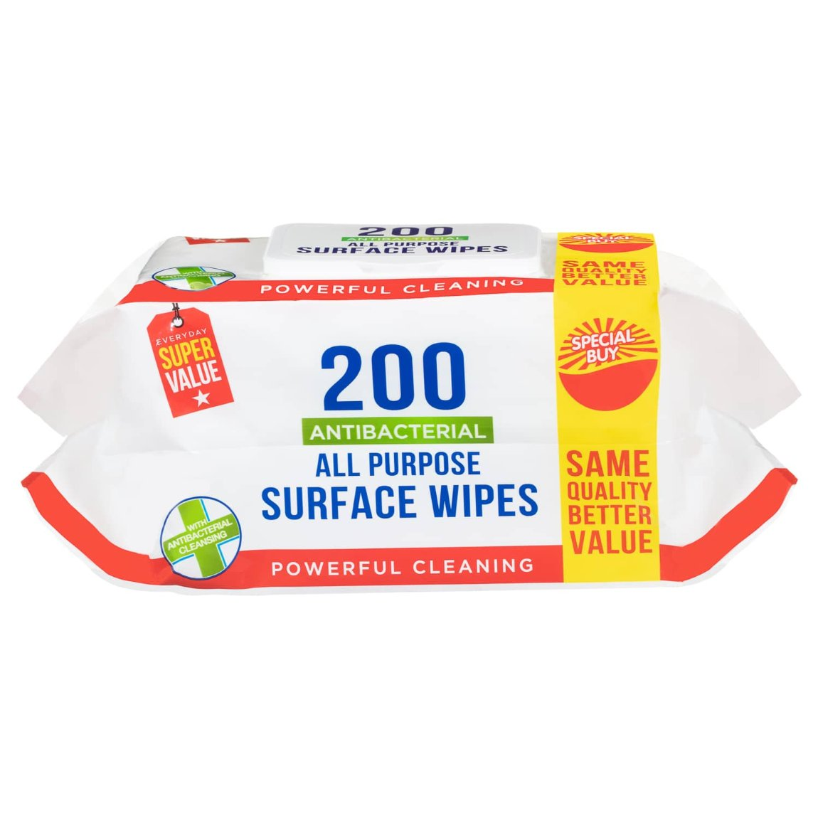 Antibacterial All Purpose Surface Wipes 200pk