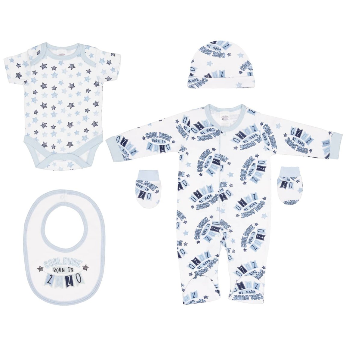 Born in 2020 Baby 5pc Set - Cool Dude