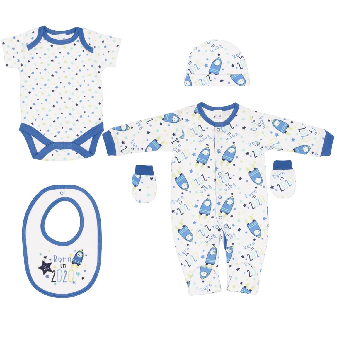Born in 2020 Baby 5pc Set - Space