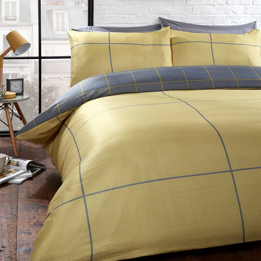 Check Double Duvet Set