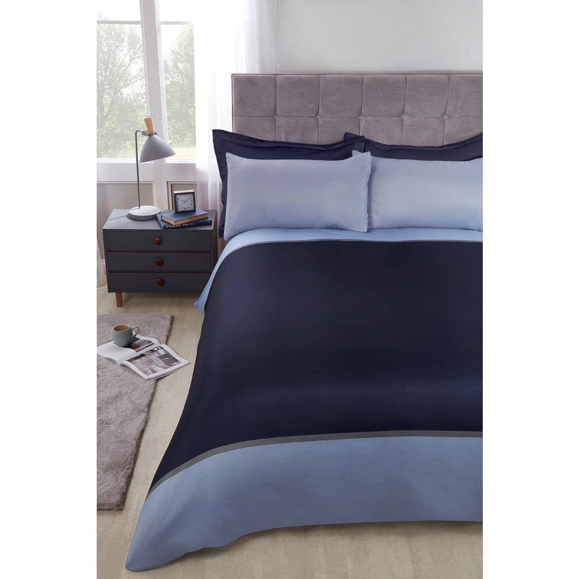 Block Stripe King Duvet Set