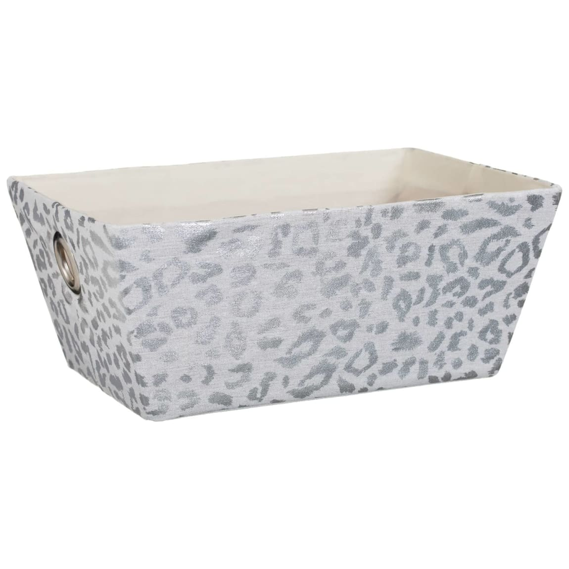 Animal Print Foil Basket - Leopard