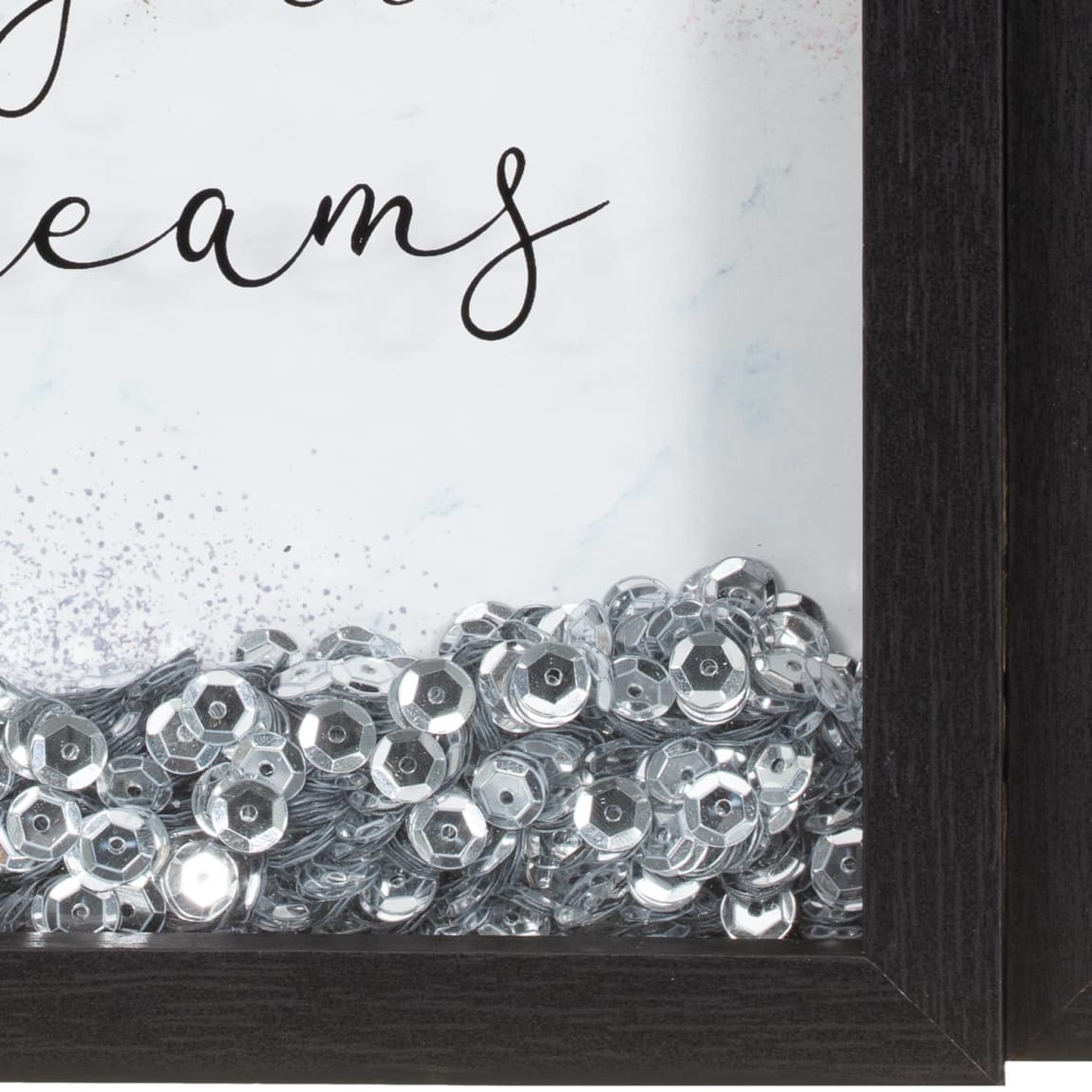 Black Glitter Shaker Frame - Leaves a Little Sparkle