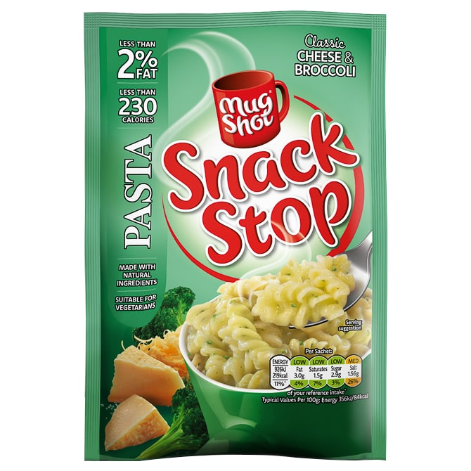 Mug Shot Snack Stop Cheese & Broccoli Pasta 60g
