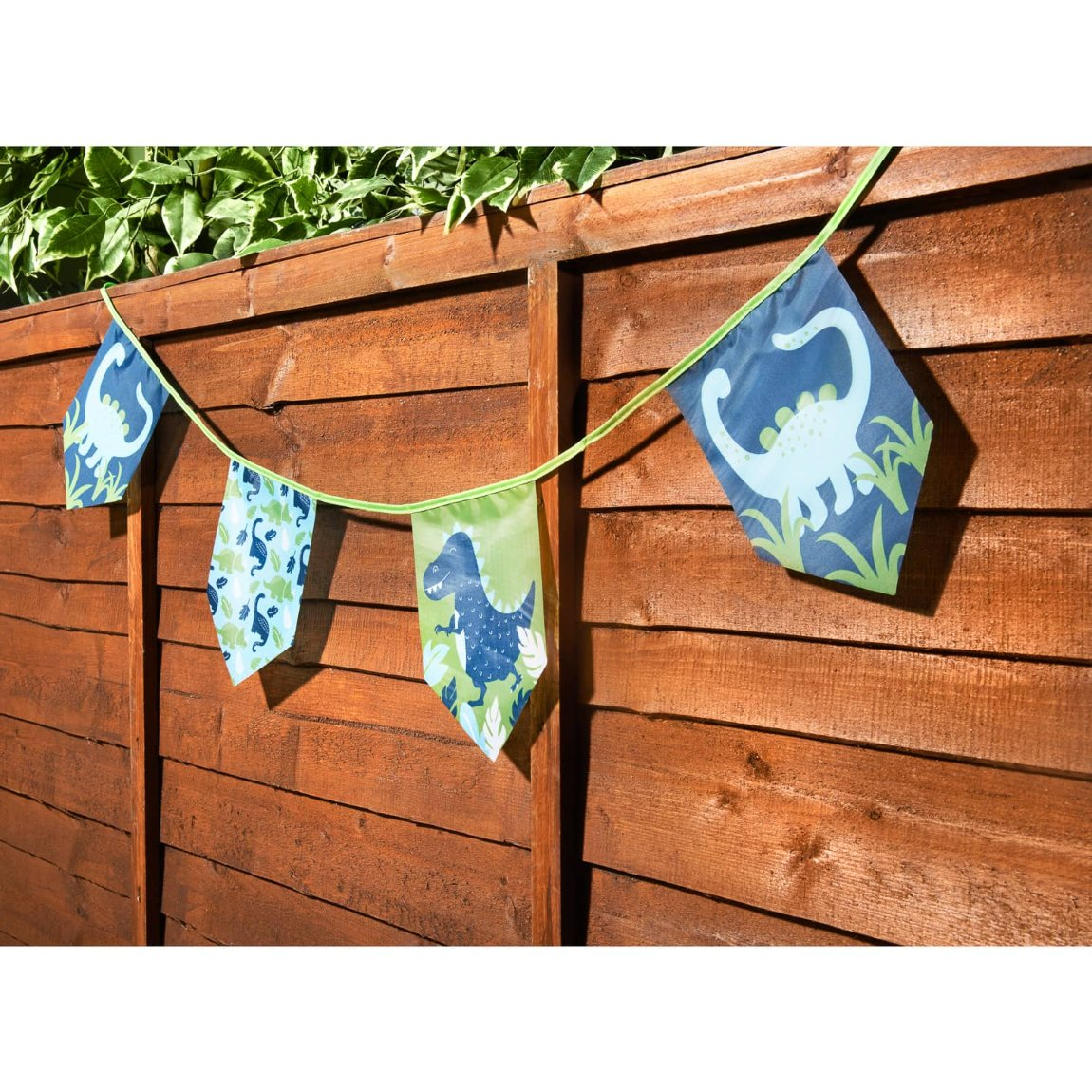 Kids Character 12 Flag Garden Bunting - Dino