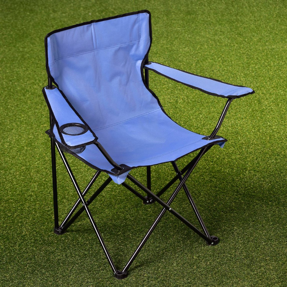 Folding Camping Chair with Cup Holder - Red