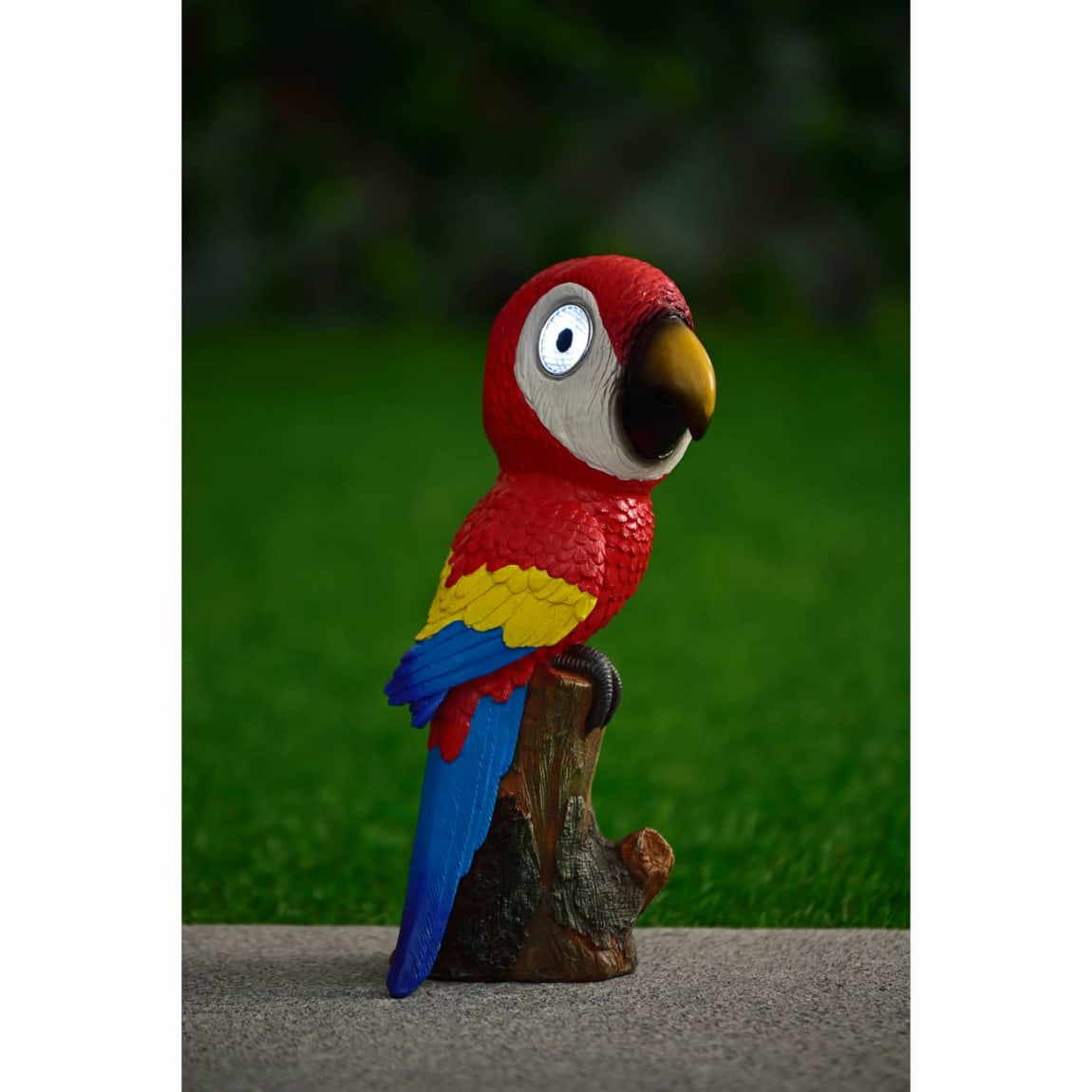 Big Eyed Parrot Solar Light - Red