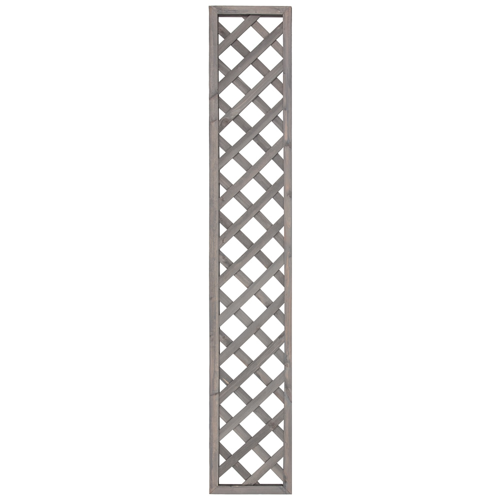Framed Diamond Trellis - Grey