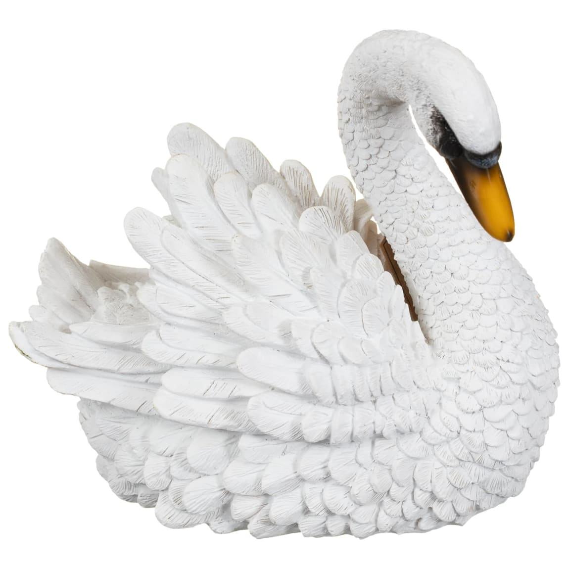 Resin Swan Garden Ornament