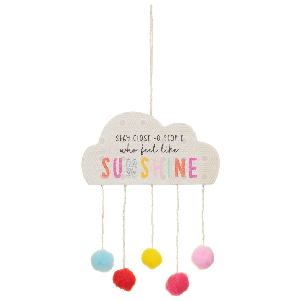 Rainbow Hanging Plaque - Sunshine
