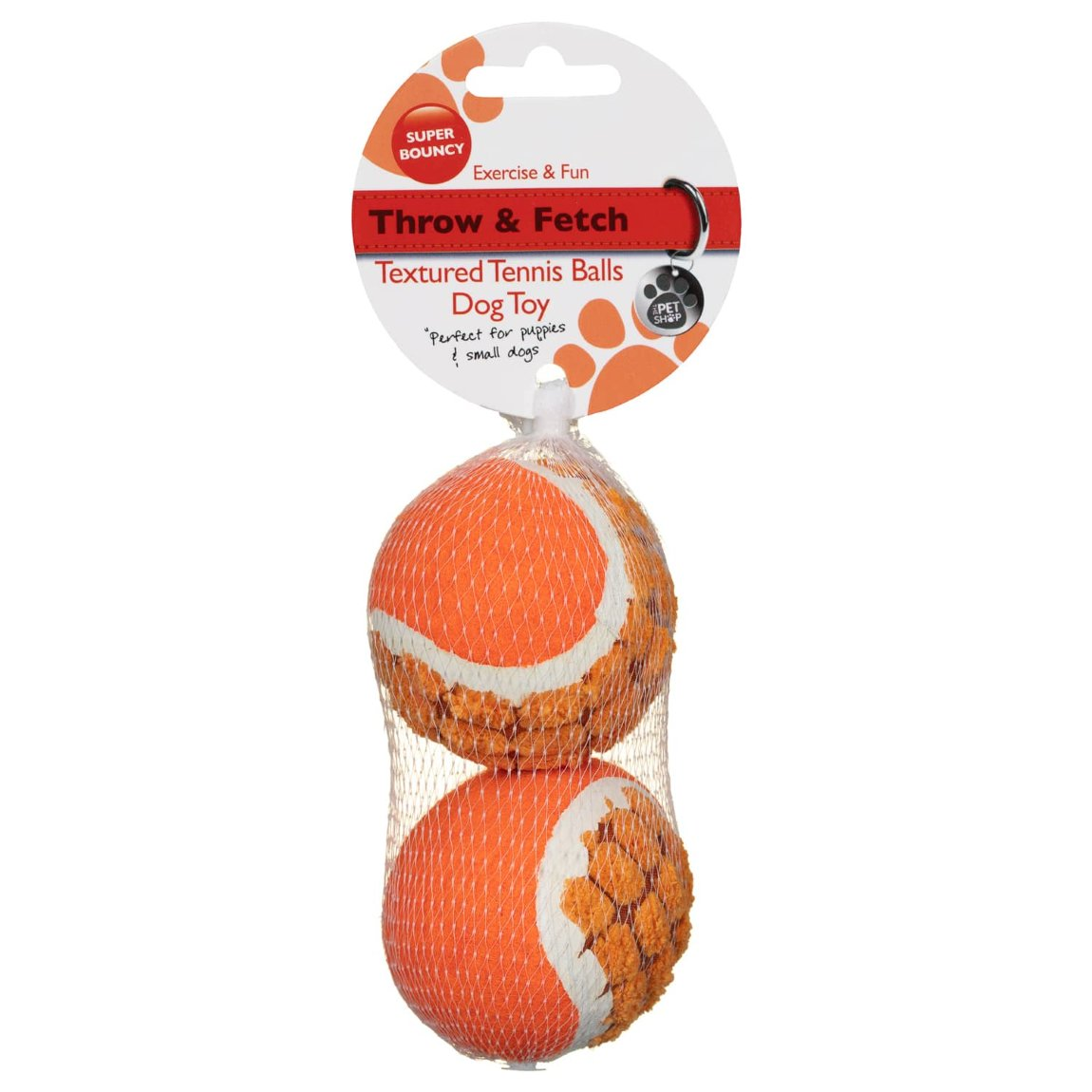 Textured Tennis Balls 2pk - Orange