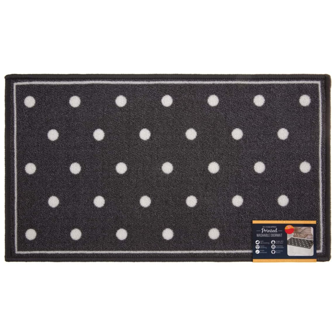 Printed Indoor Doormat 40 x 70cm - Spots