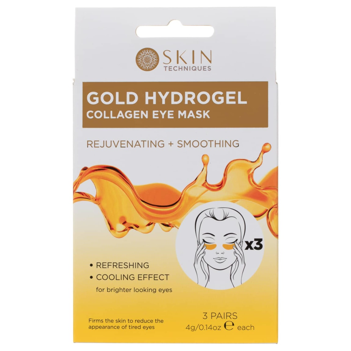 Skin Techniques Gold Hydrogel Collagen Eye Mask