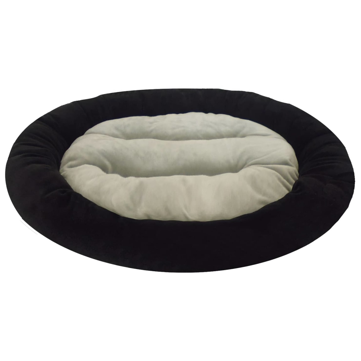 Oval Snuggle Pet Bed - Black