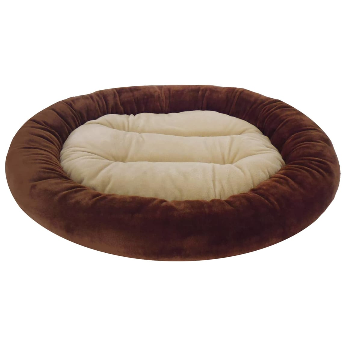 Oval Snuggle Pet Bed - Brown