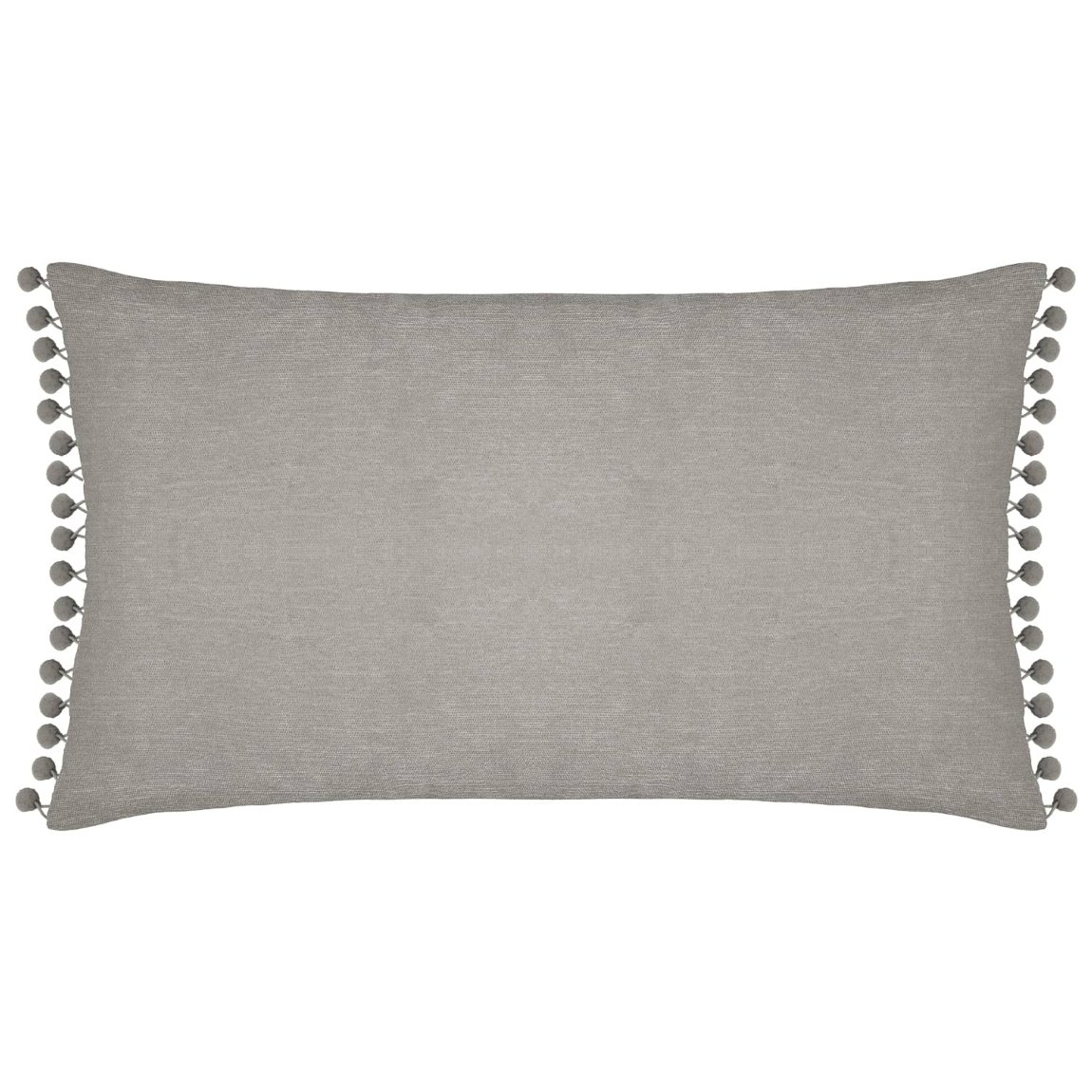 Pom Pom Pre-Filled Cushion - Grey