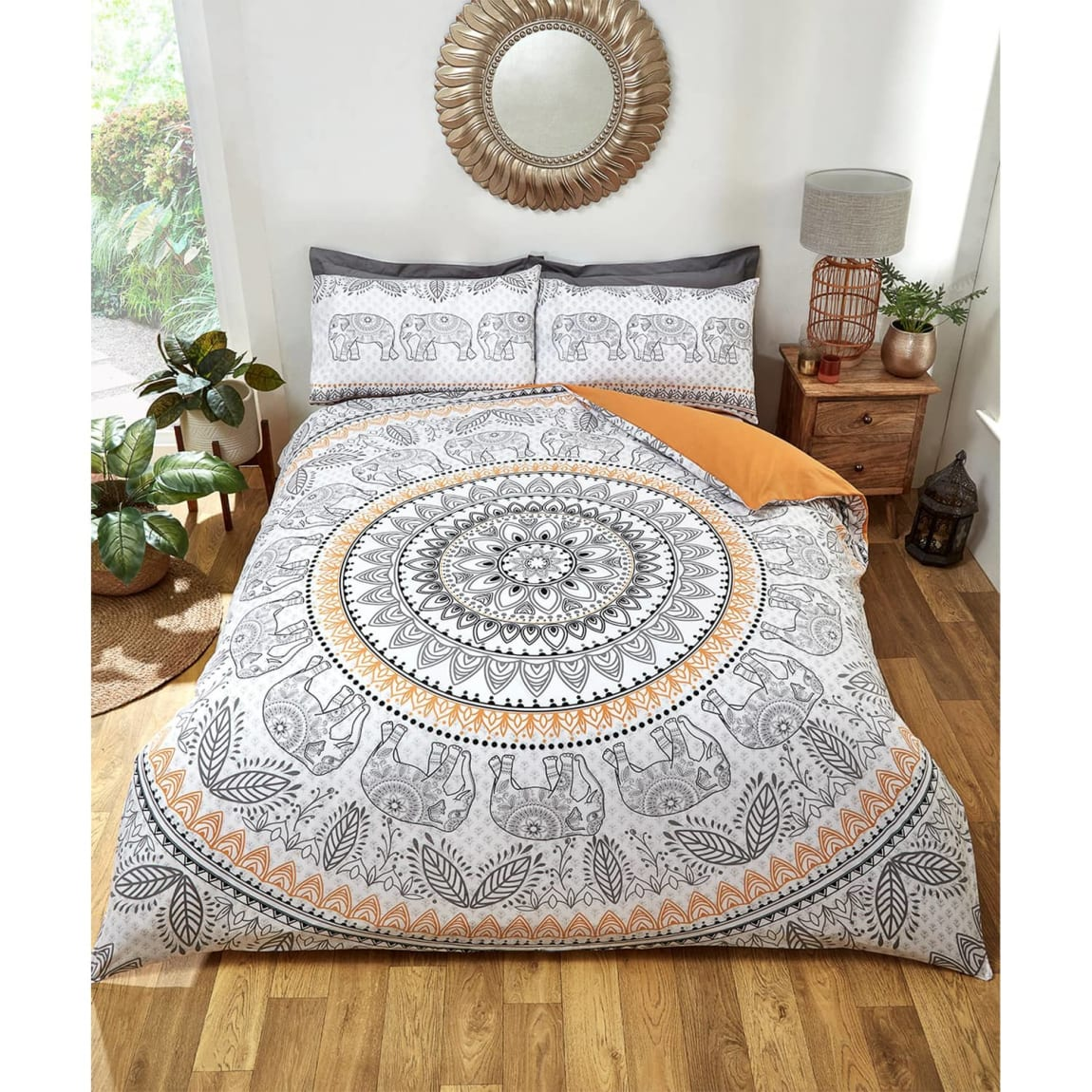 Loft Studio Elephant Double Duvet Set - Mono