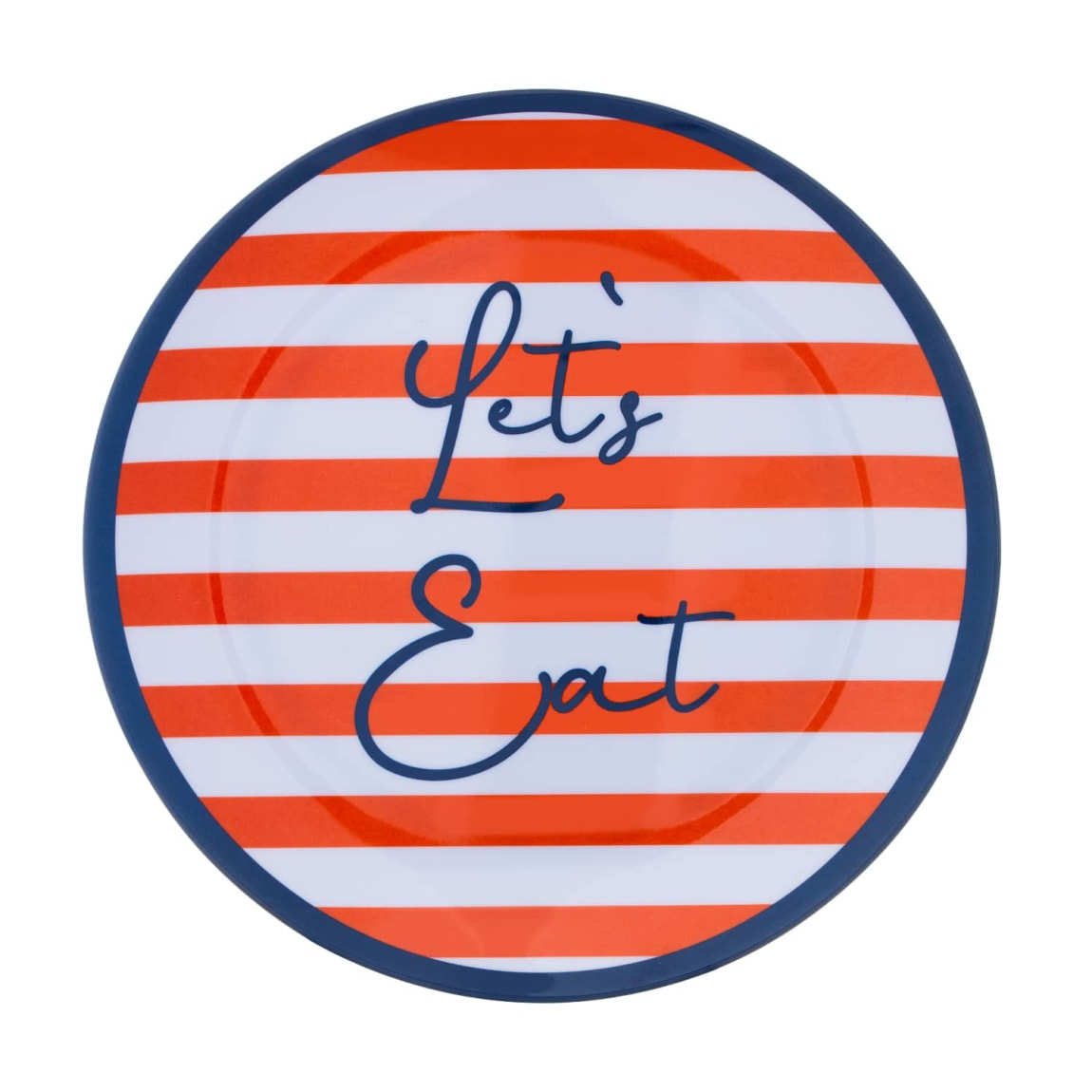 Striped Picnic Plates 4pk
