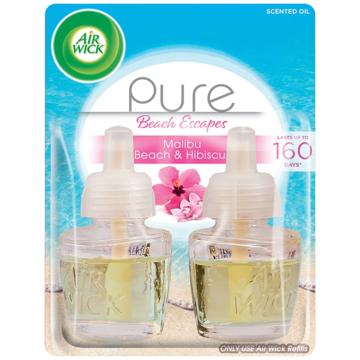 Air Wick Pure Beach Escapes Oil Refill 2pk - Malibu