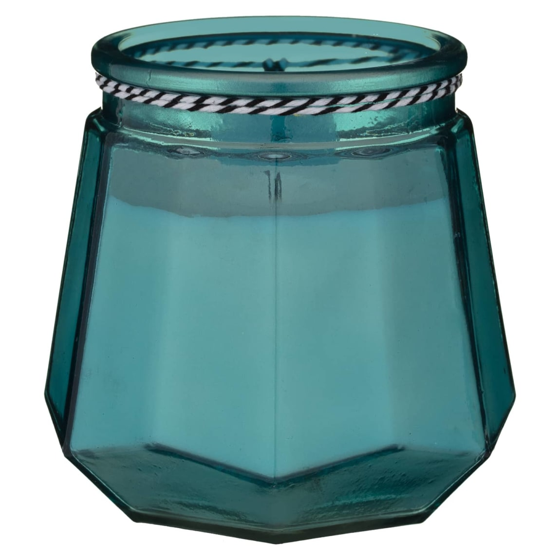 Nautical Glass Candle - Teal