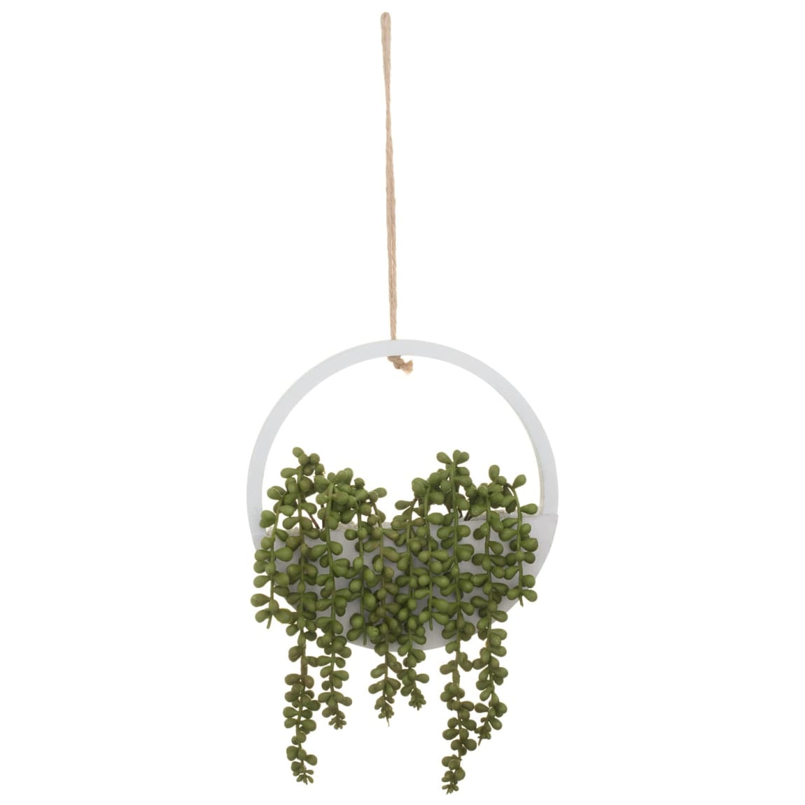 Round Wooden Hanging Foliage