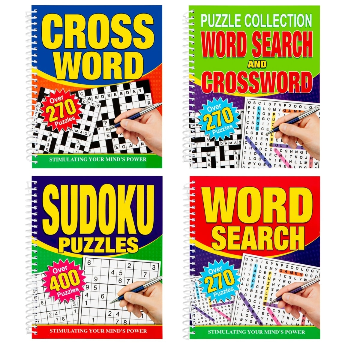 Large Print Puzzle Book - Word Search & Crossword