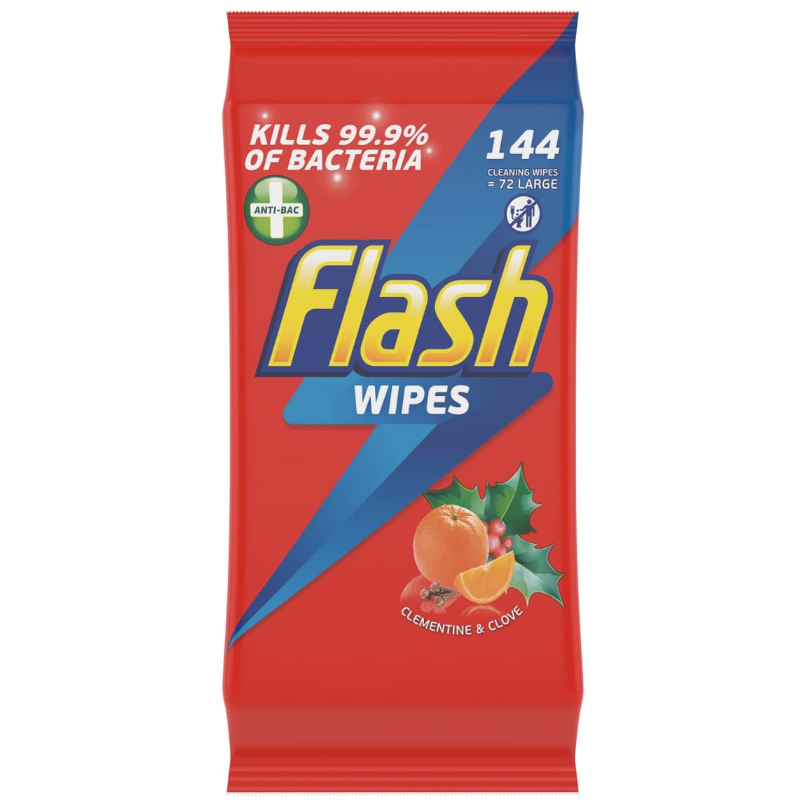 Flash Cleaning Wipes 72pk  - Clementine & Clove