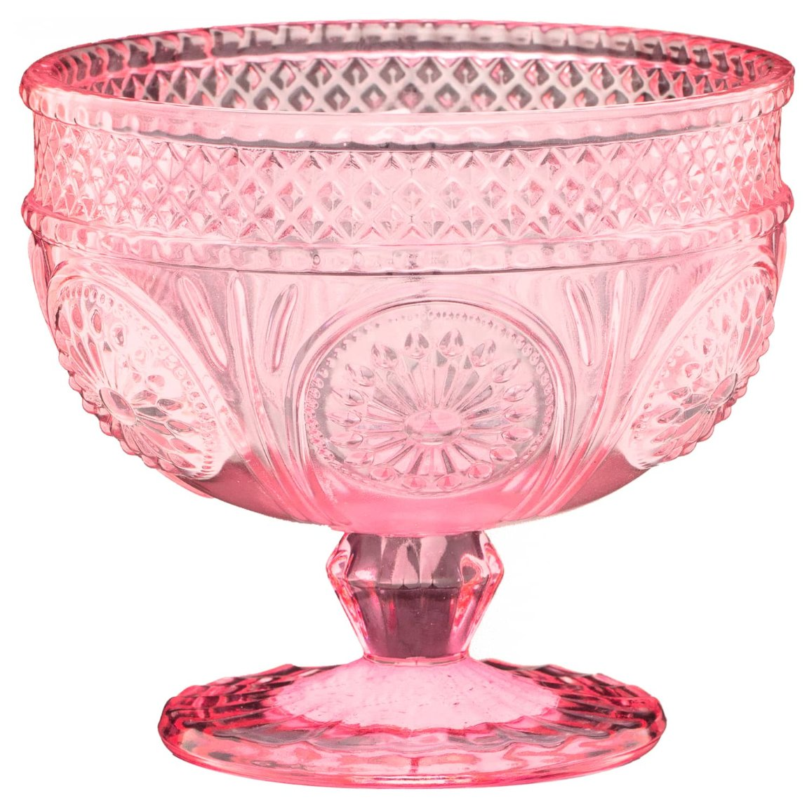 Glass Dessert Bowl - Pink