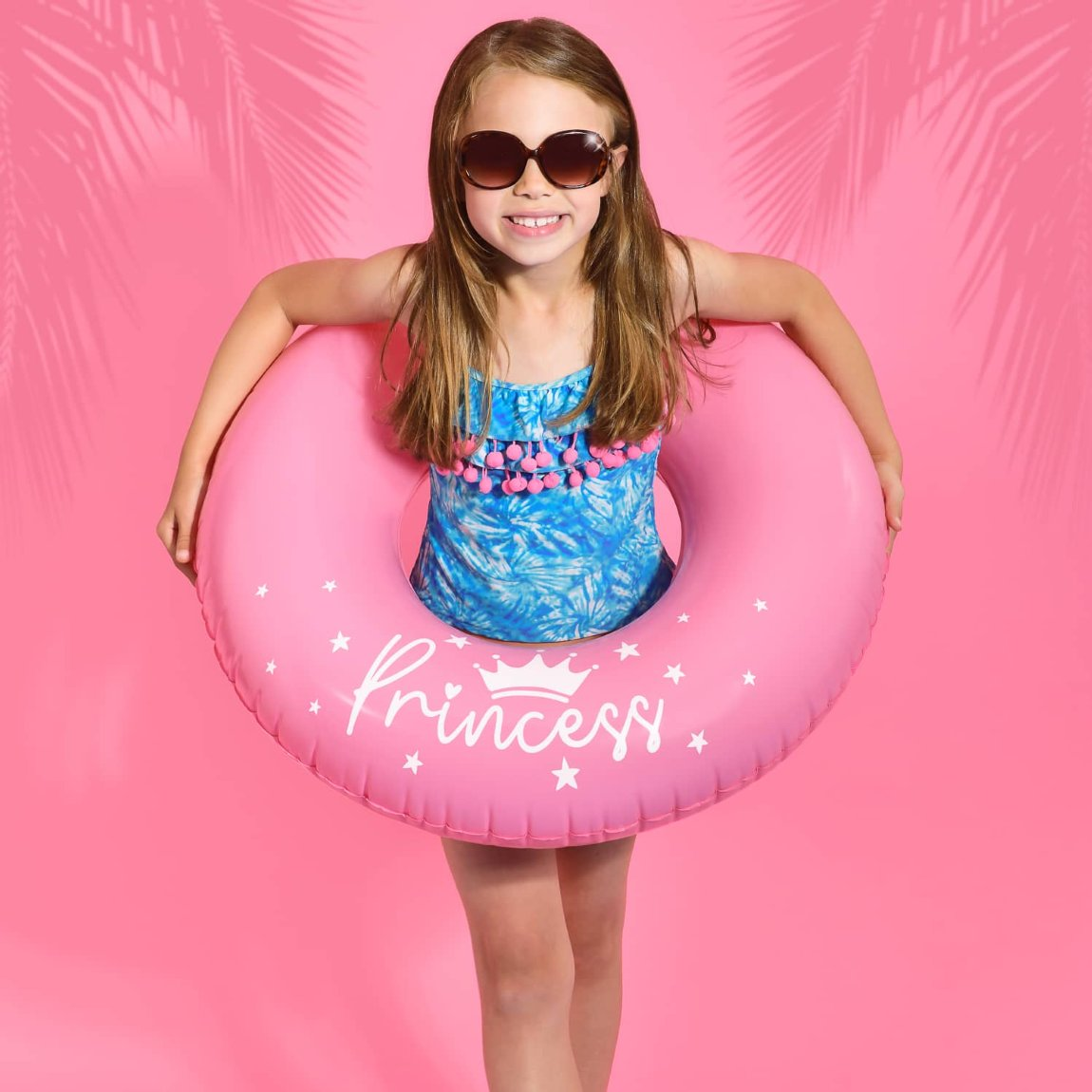 Kids Inflatable Swim Ring - Pink Princess