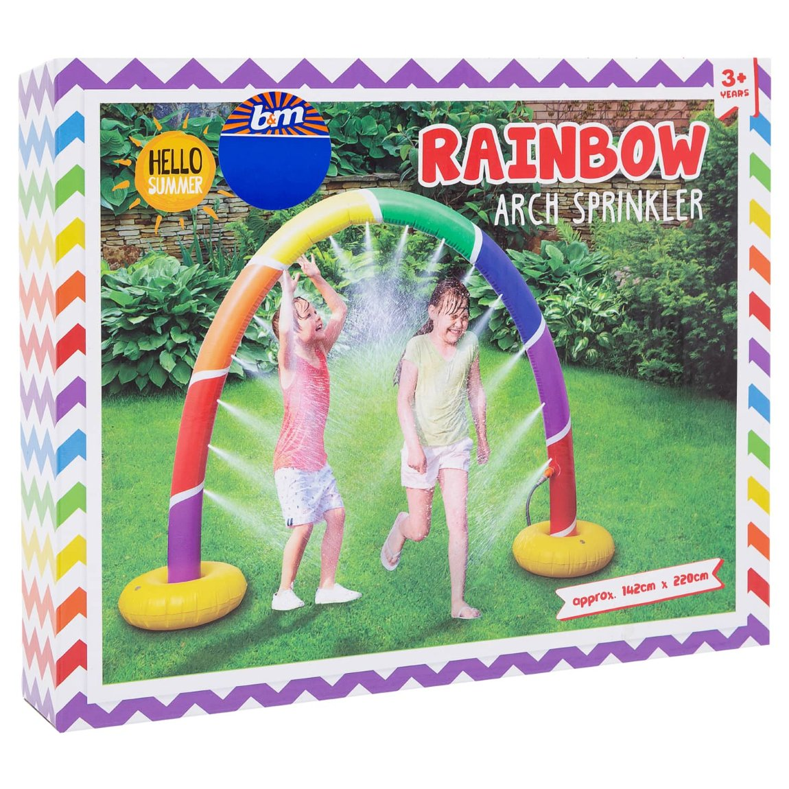 Garden Rainbow Arch Sprinkler From B&M Toys