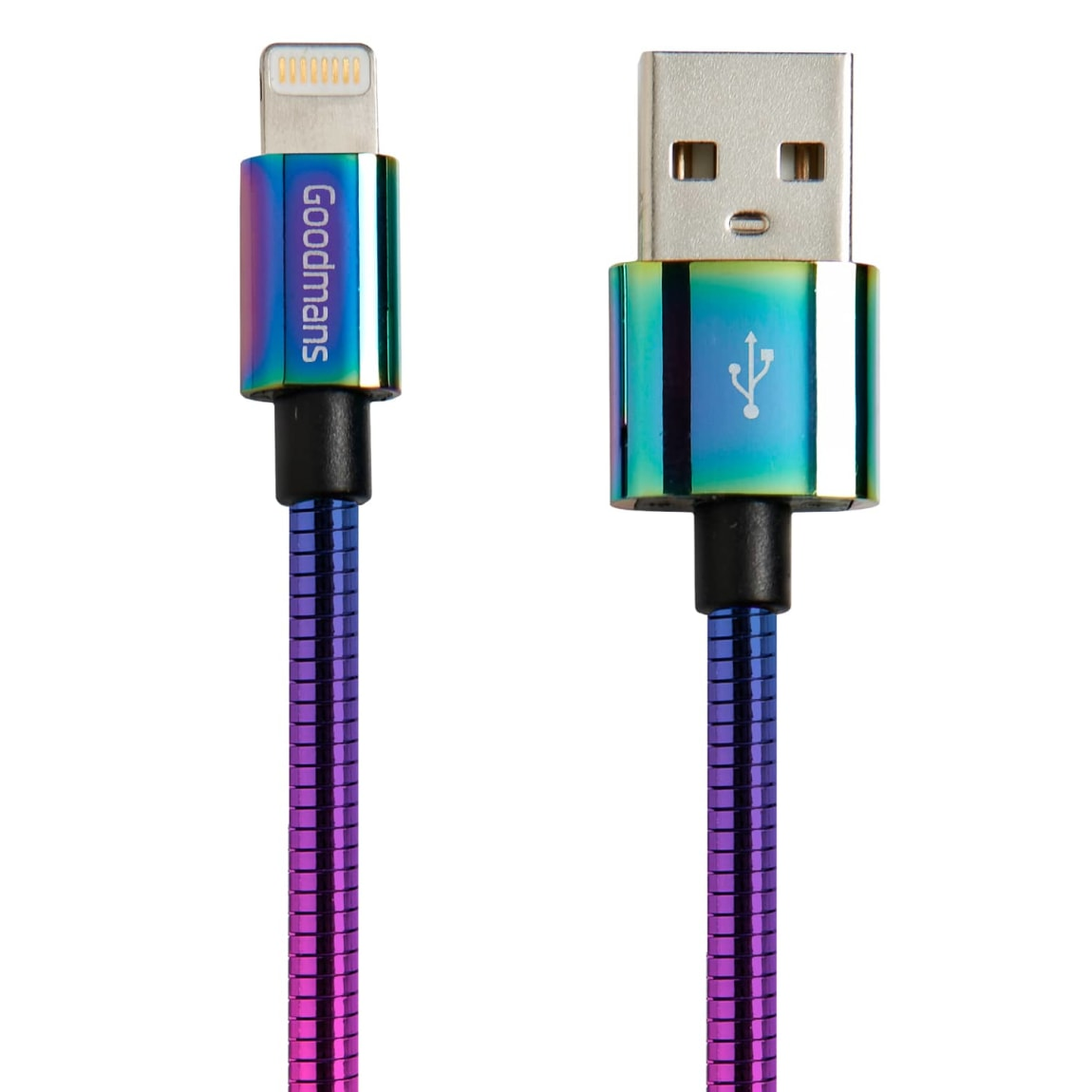 Goodmans Lightning Metal Charging Cable - Iridescent