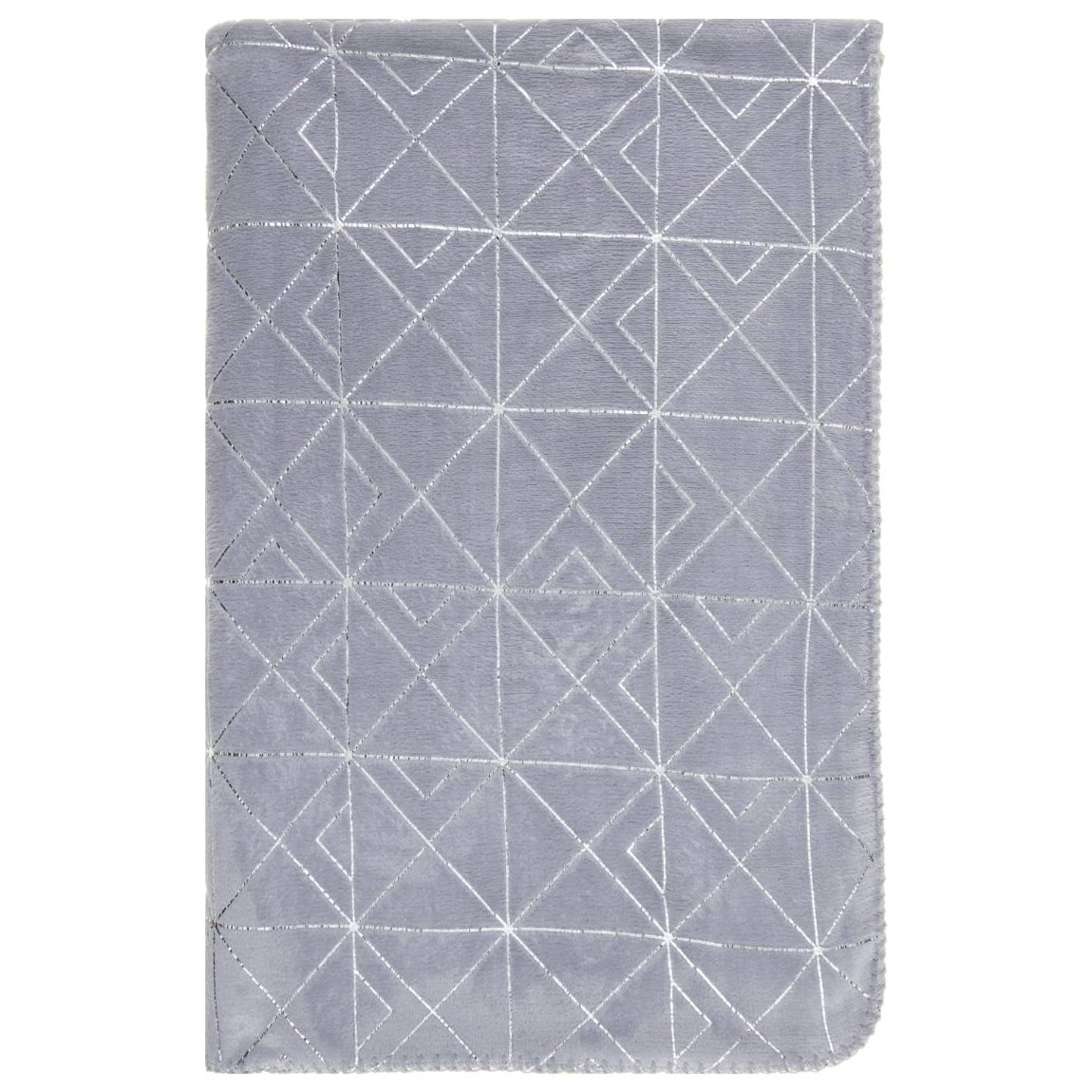 Karina Bailey Orla Art Deco Geo Throw - Silver