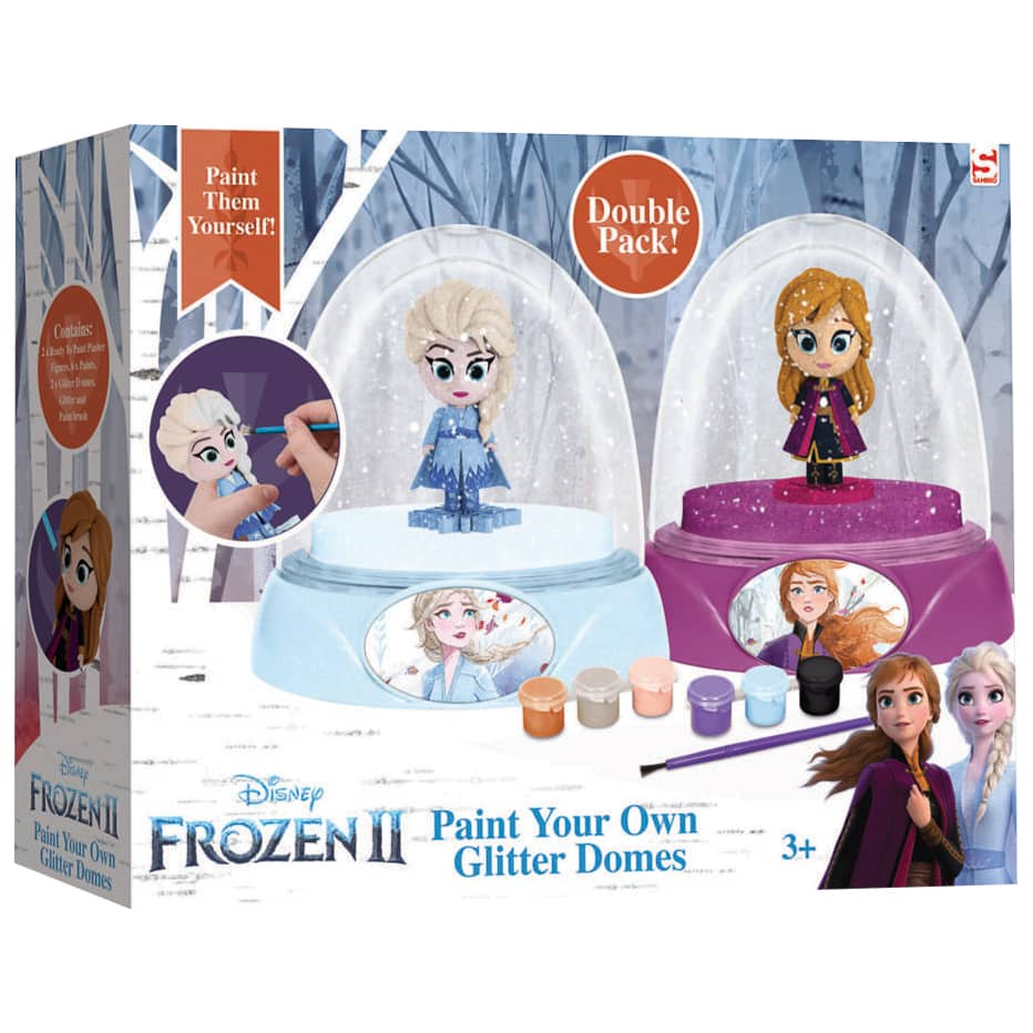 Frozen Paint Your Own Glitter Domes 2pk