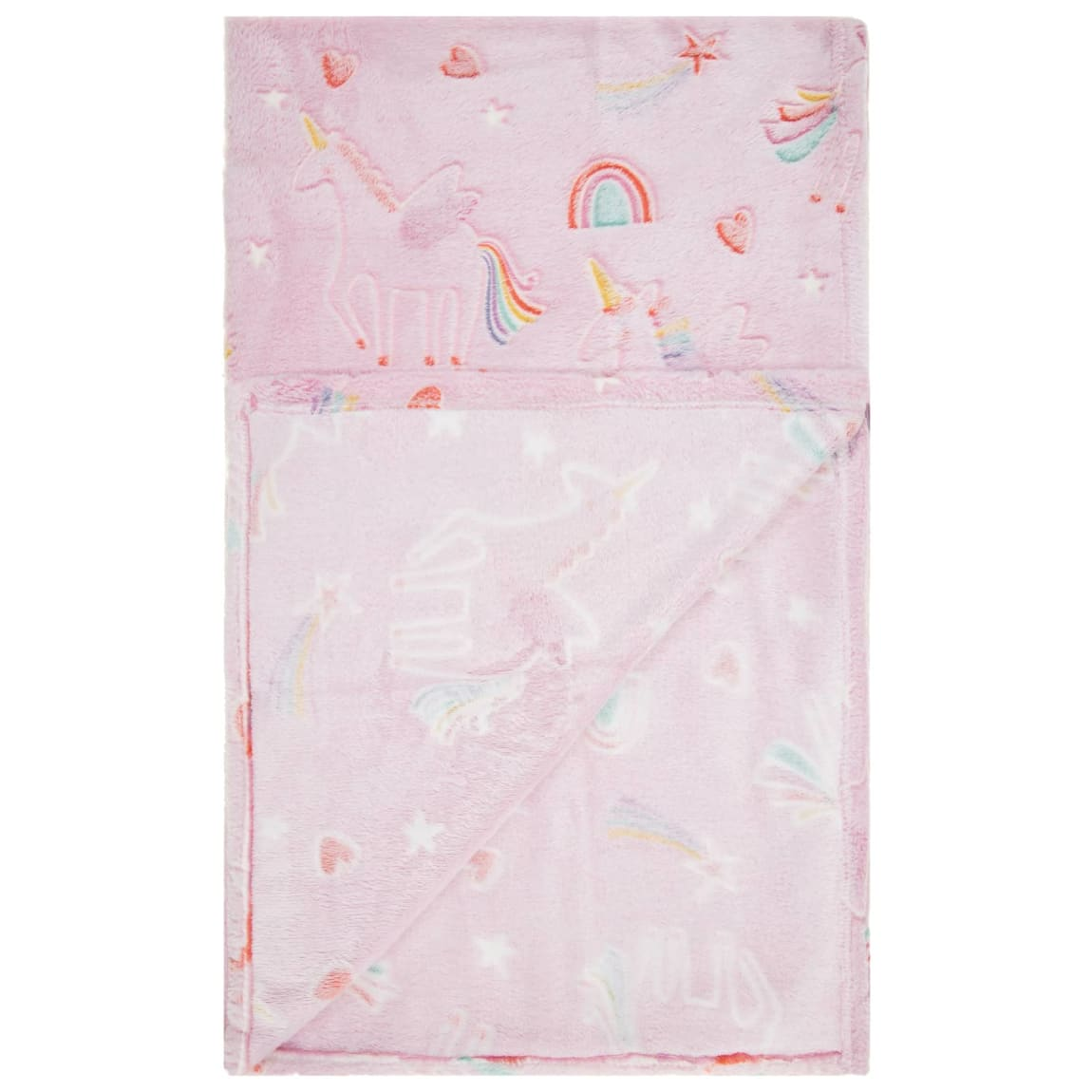 Glow in the Dark Throw - Unicorn