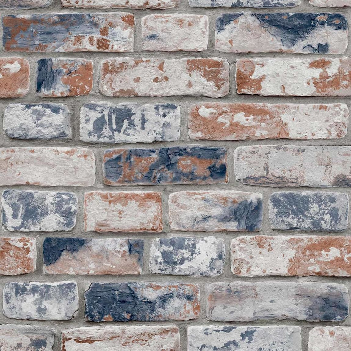 Distressed Navy Brick Wallpaper