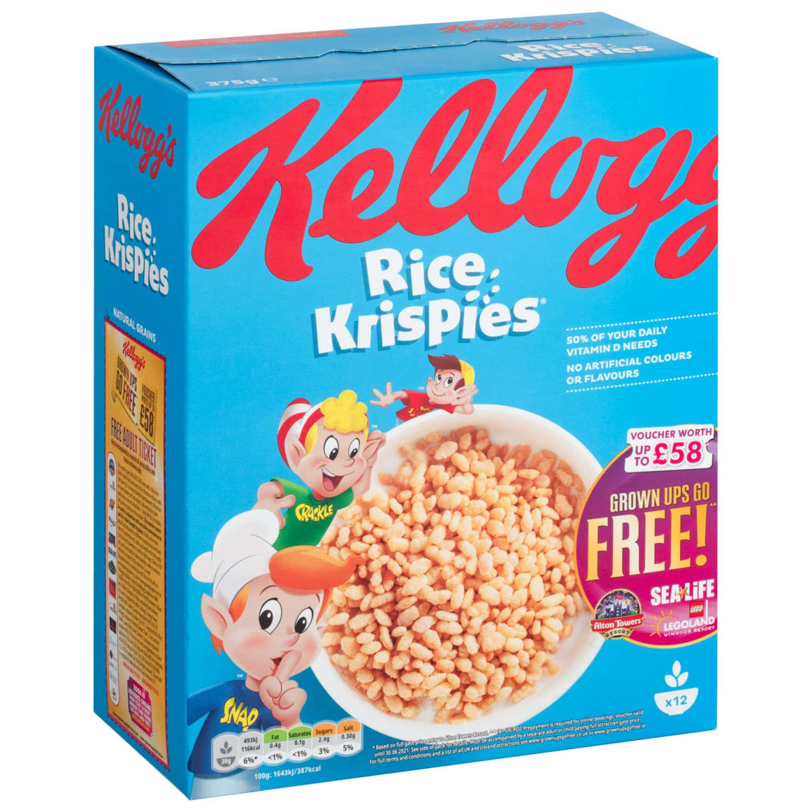 Kellogg's Rice Krispies Cereal 375g