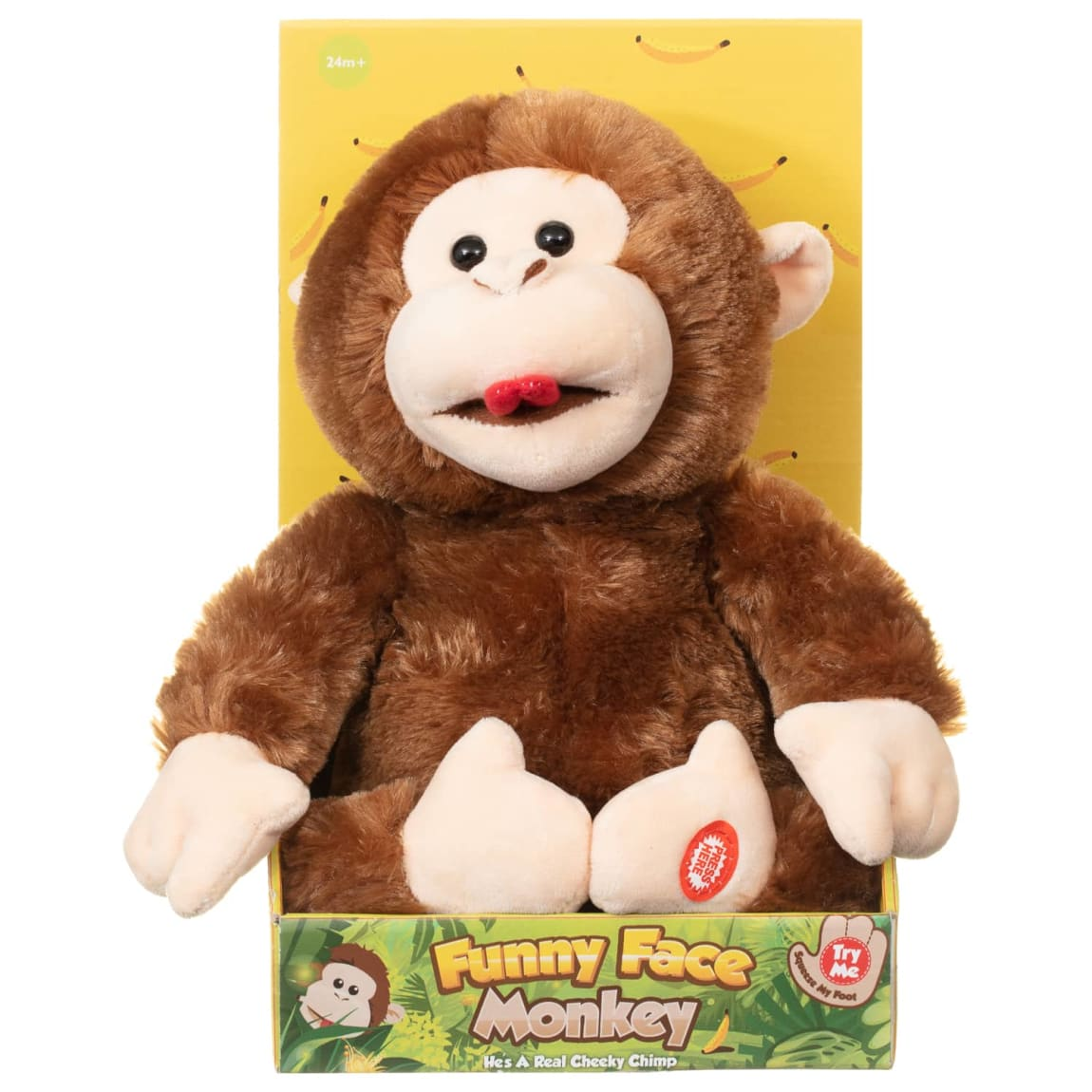 Funny Face Giggling Monkey