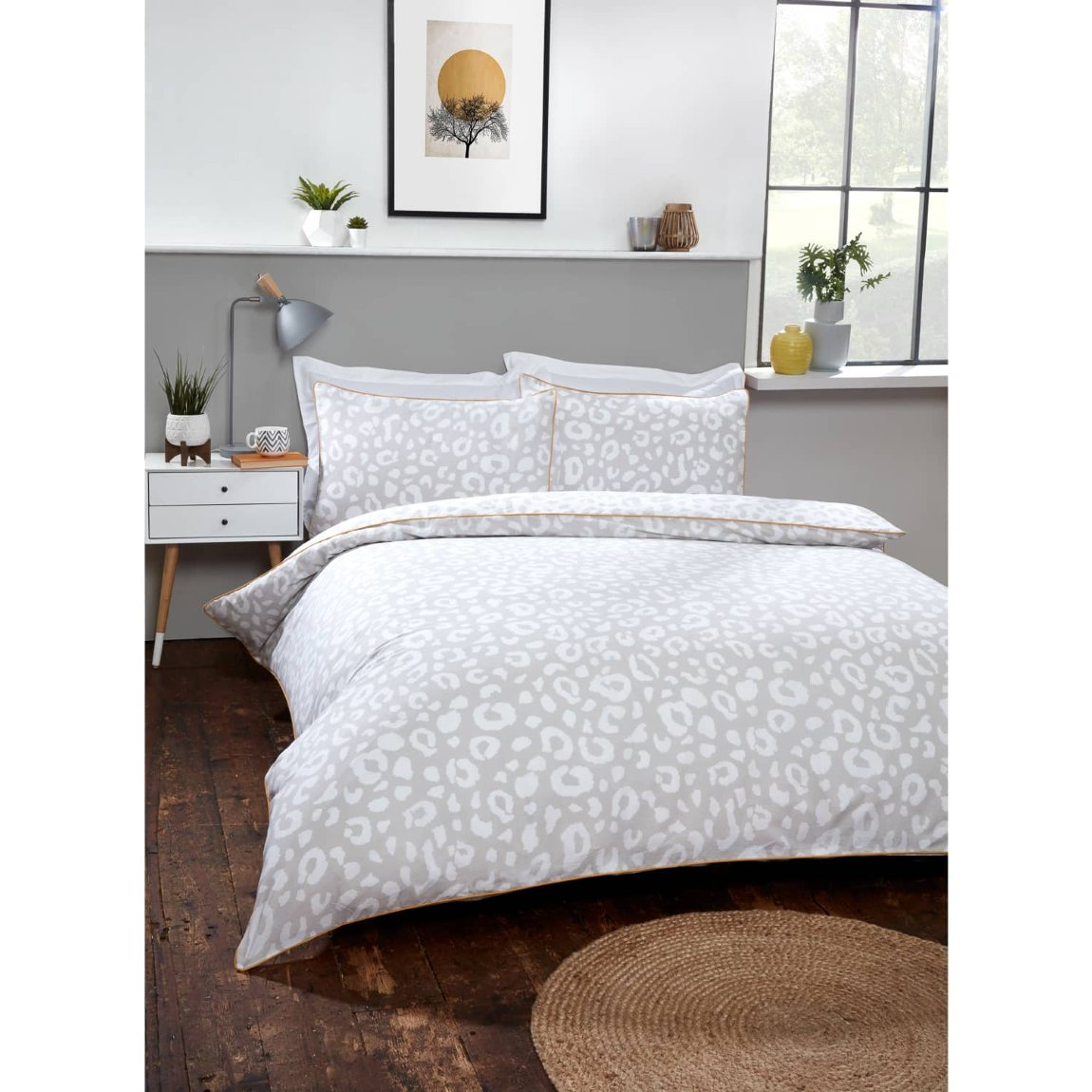 Loft Studio Leopard Double Duvet Set - Natural