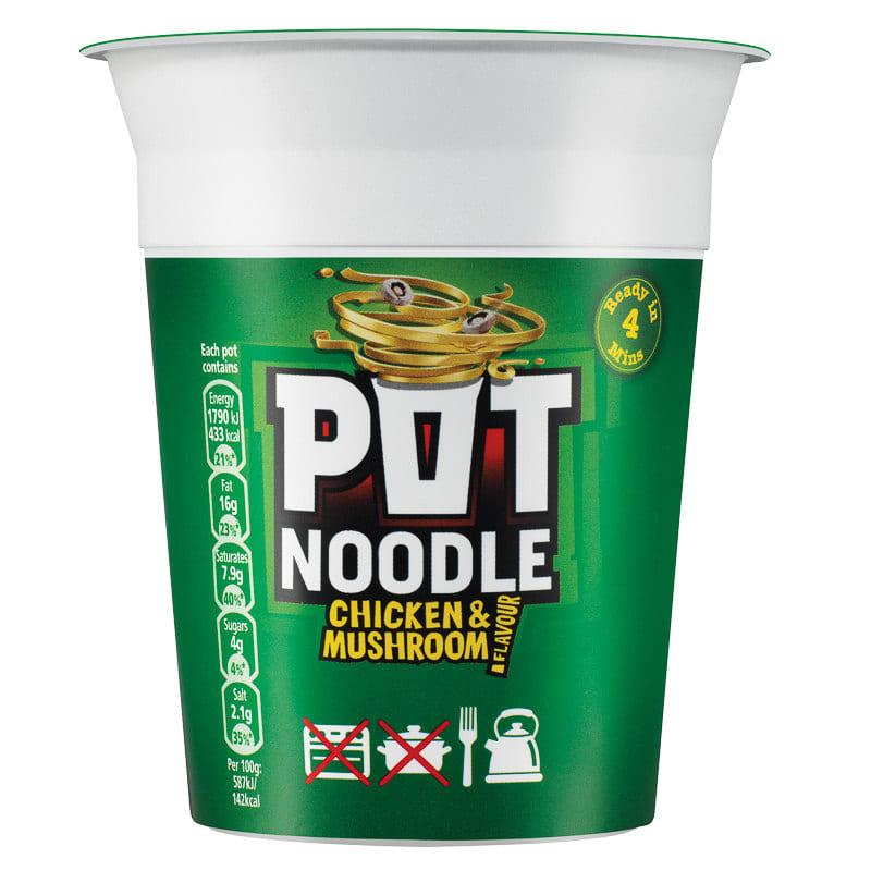 B Amp M Pot Noodle Chicken Amp Mushroom 90g Pot Noodle 90g B Amp M