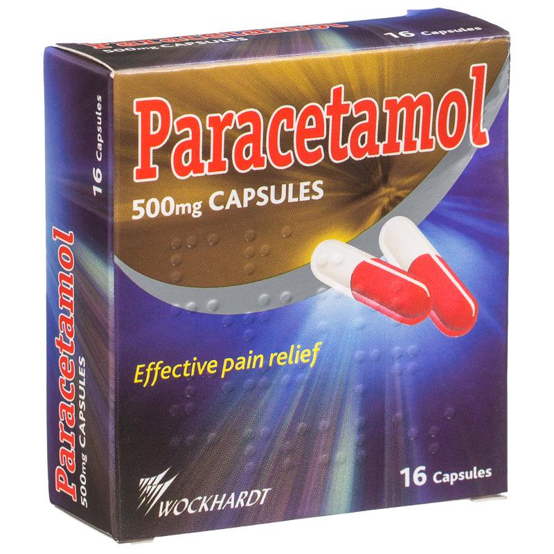 B Amp M Wockhardt Paracetamol 500mg Capsules 16pk 125441 B Amp M