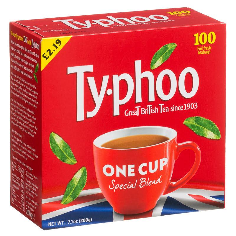 B Amp M Typhoo One Cup 100 Round Teabags 200g 154201 B Amp M