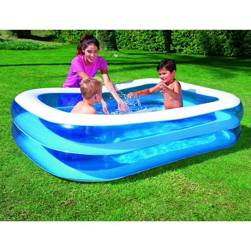 B m rectangular paddling pool 79 165384 b m for Large paddling pool